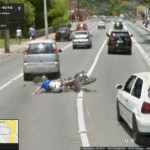 Google Street View captura acidente de moto