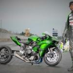 "Kawasaki Ninja H2 transformada em ""Drag Racer"""