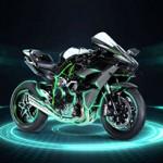 Kawasaki Ninja H2R cospe faíscas de fogo em vídeo