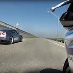 Nissan GT-R VS Yamaha R1M (Vídeo)