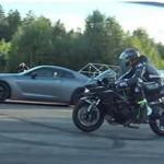 Nissan GT-R Nismo VS Kawasaki Ninja H2 VS Mercedes AMG GT S Coupe