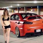 Lancer Evolution X e sexy girls: o esportivo que marcou a história