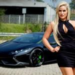 Lamborghini Huracan e a sexy Laura Bishop: show de contrastes
