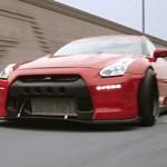 Nissan GT-R Rocket Bunny com rodas Rotiform