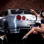 Nissan GT-R Skyline e a linda Danelle Steenkamp