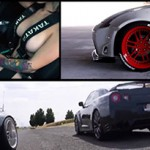 Nissan 350z, Nissan GT-R e Sexy Girl: combinação perfeita