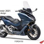 "Honda Forza 750 conquista o ""RED DOT DESIGN AWARD"" 2021"